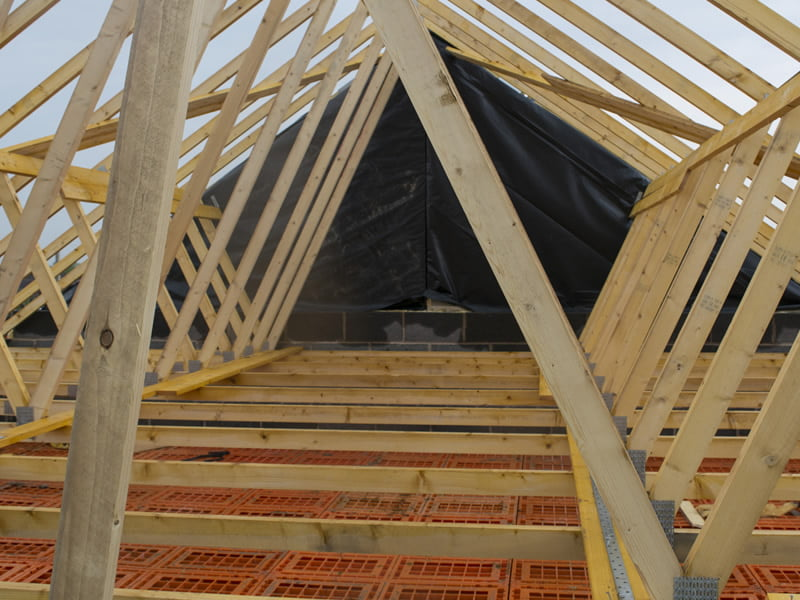 Spandrel Panels And Glulam Aber Roof Truss